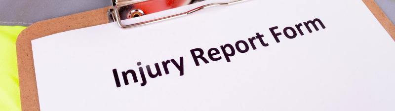 gym injury report form